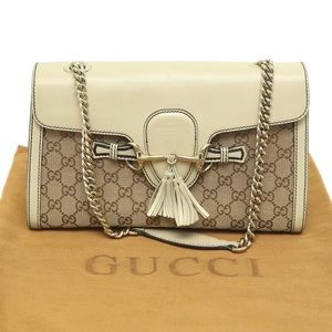 Pre Owned Authentic Gucci Emily Shoulder Bag